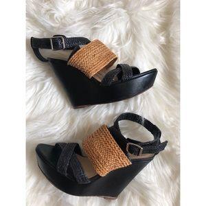 Loeffler Randall Wedge Leather Sandals
